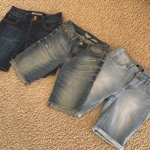 Bundle of 3 Denim Shorts Size 6